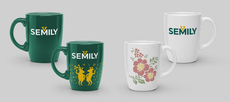 Vizuální styl Semily - merchandise hrnky