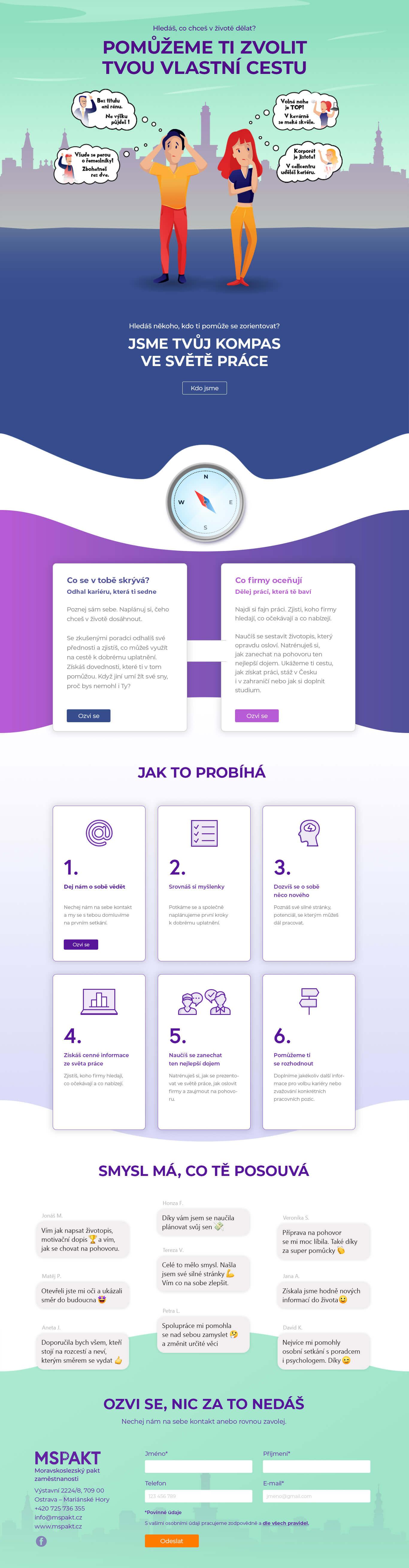 Volbakariery.cz design webu, microsite