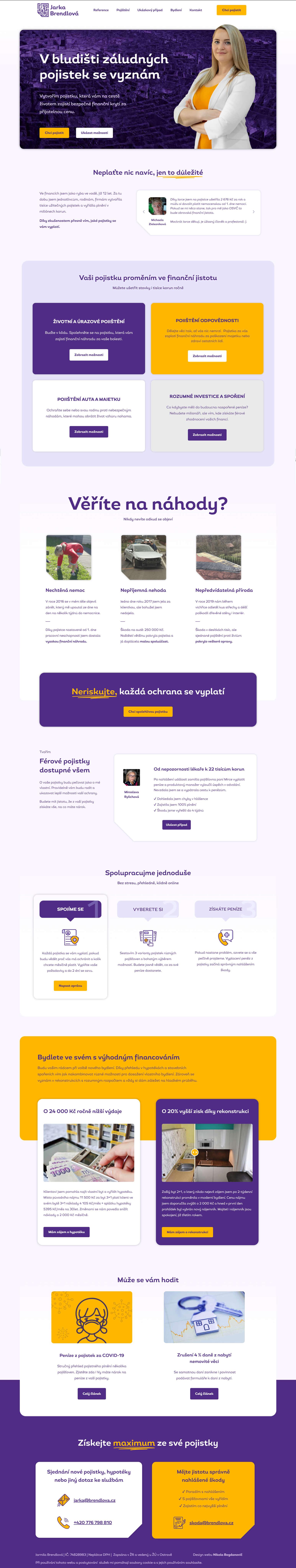 Jarka Brendlova grafika osobního webu