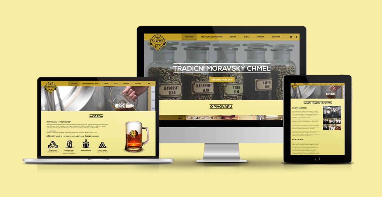 Pivovárek Morava design webových stránek