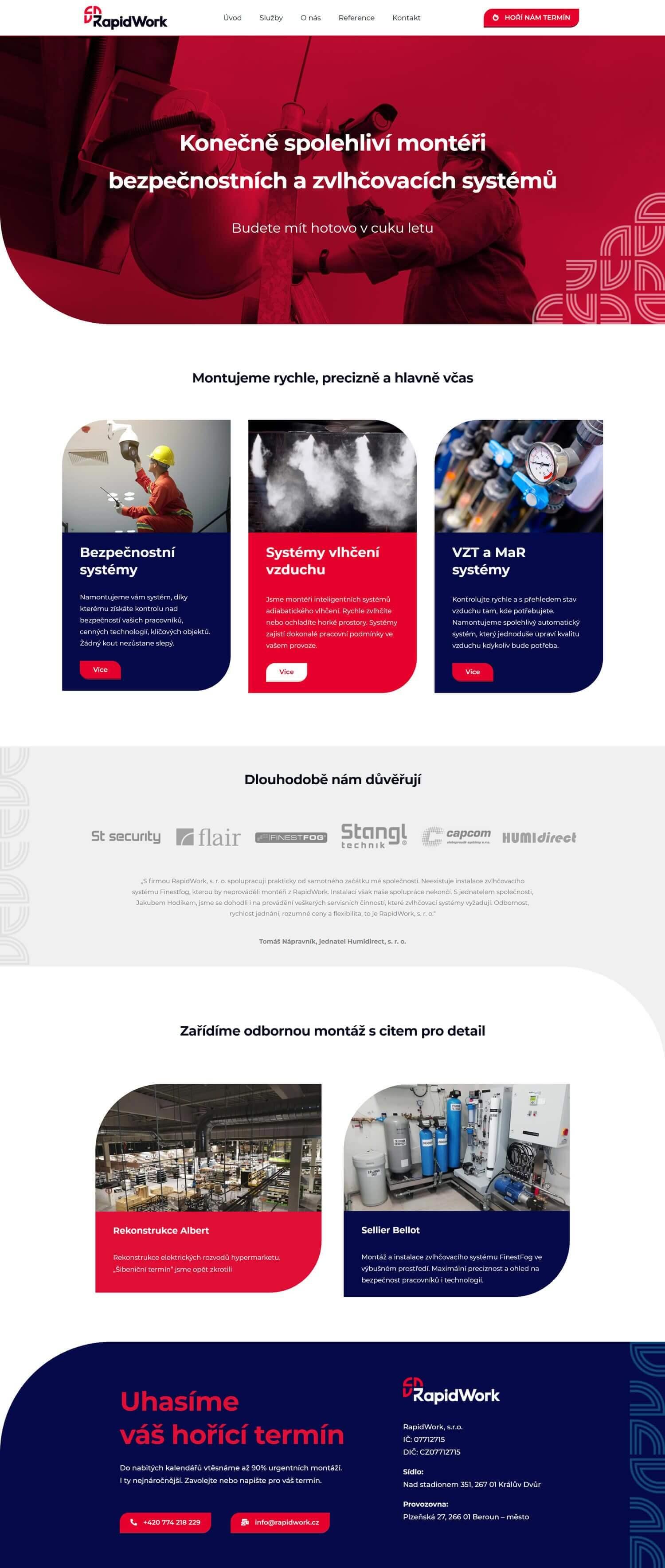 Rapidwork design a tvorba firemního webu