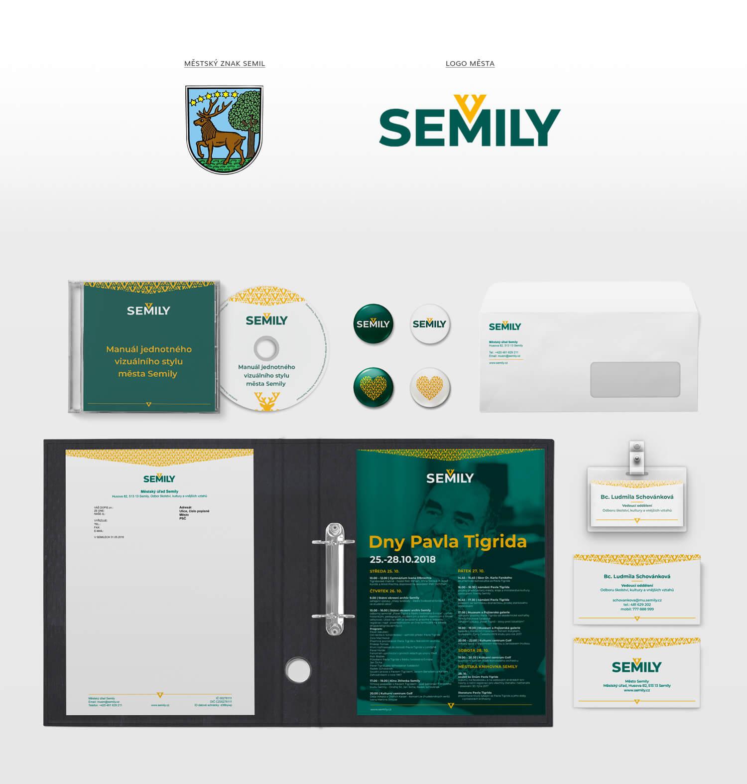 Vizuální styl Semily - logo, tiskoviny