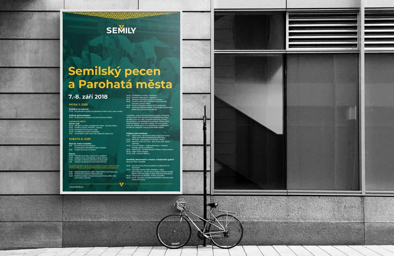 Vizuální styl Semily - tiskoviny, outdoor plakát akce